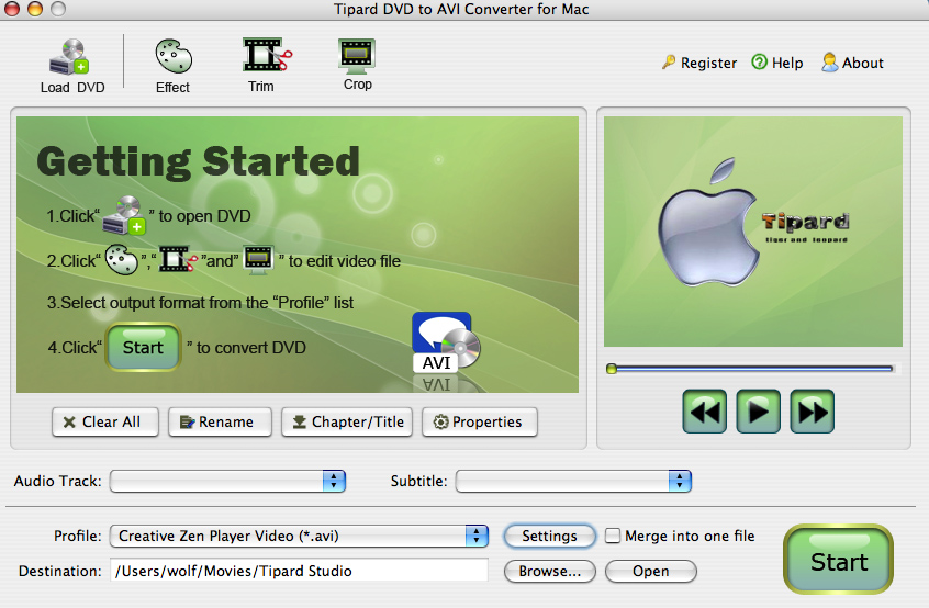 Tipard DVD to AVI Converter for Mac