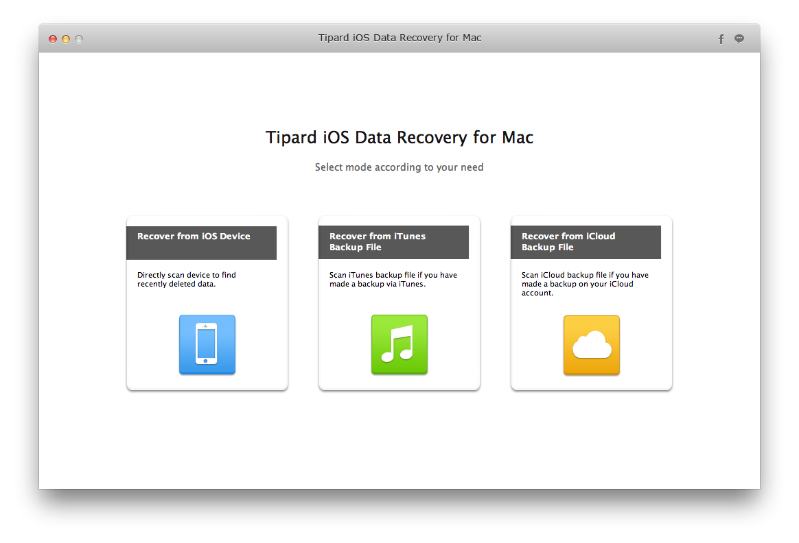 Tipard iOS Data Recovery for Mac Lifetime License