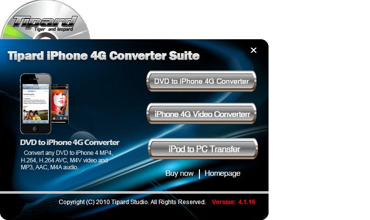 Tipard iPhone 4 Converter Suite