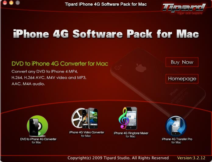 Tipard iPhone 4 Software Pack for Mac