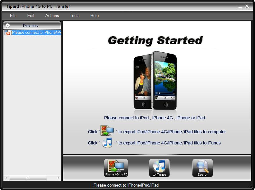 Tipard iPhone 4 to PC Transfer