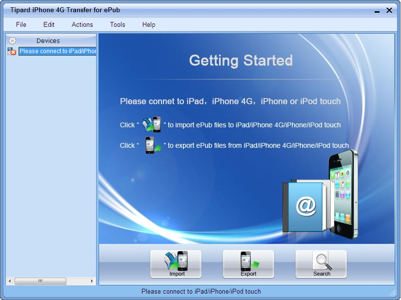Tipard iPhone 4 Transfer for ePub