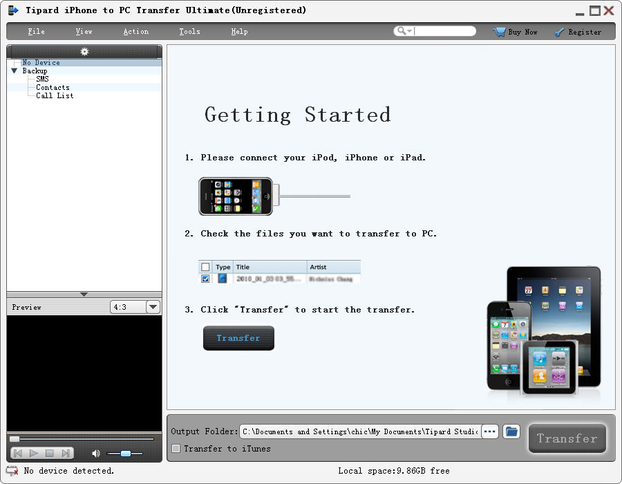 Tipard iPhone to PC Transfer Ultimate