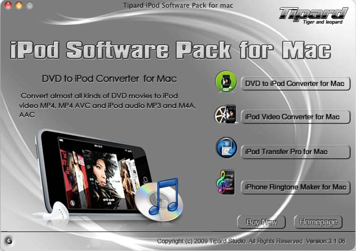 Tipard iPod Software Pack for Mac