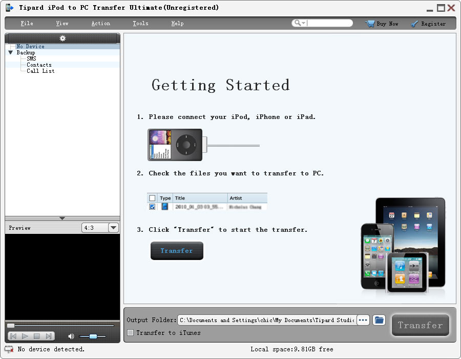 Tipard iPod to PC Transfer Ultimate