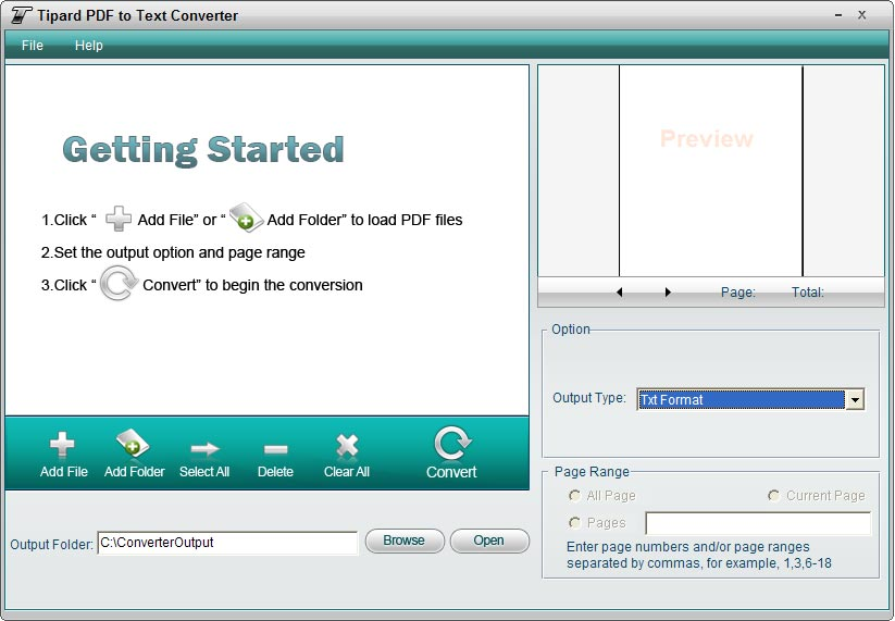 Tipard PDF to Text Converter