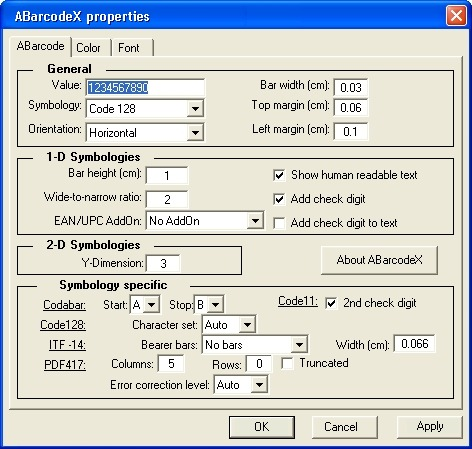 ABarcode ActiveX - Site License