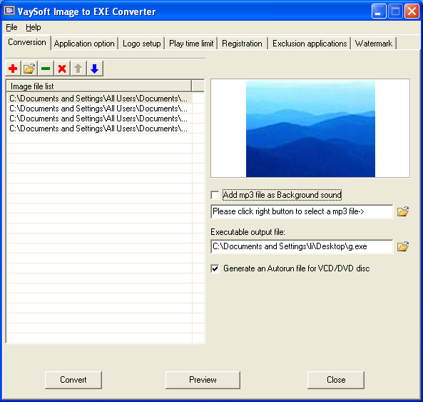 VaySoft Image to EXE Converter