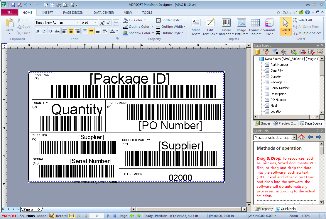 LabelPath Barcode Label Maker Printing Software V8.7