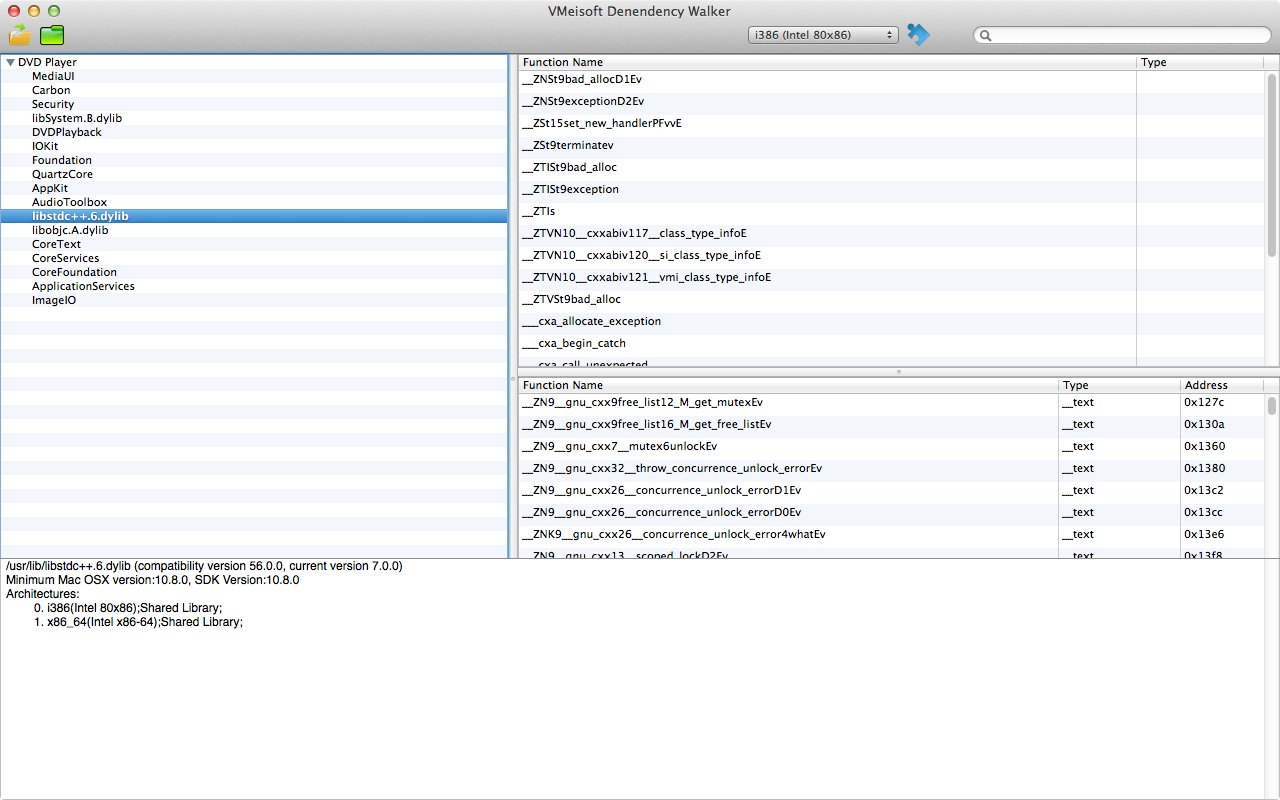 VMeisoft Dependency Walker for Mac