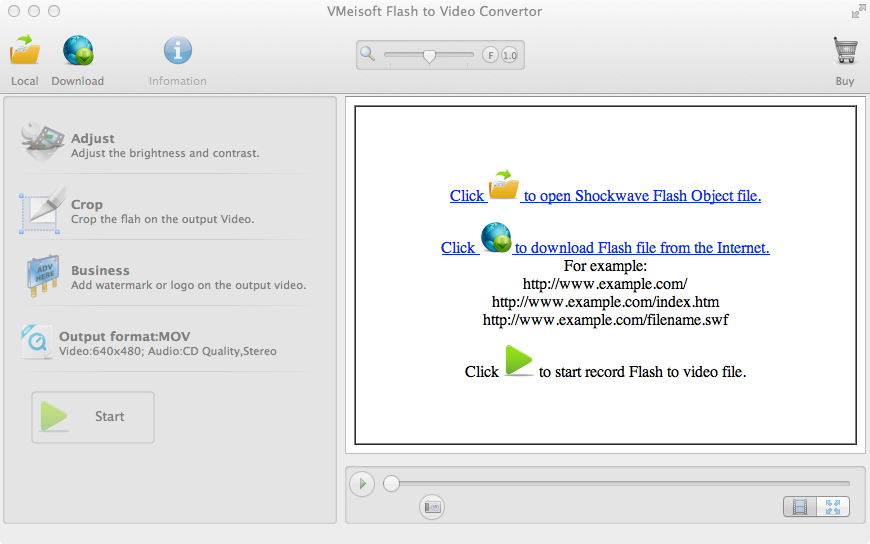 VMeisoft Flash to Video Convertor for Mac