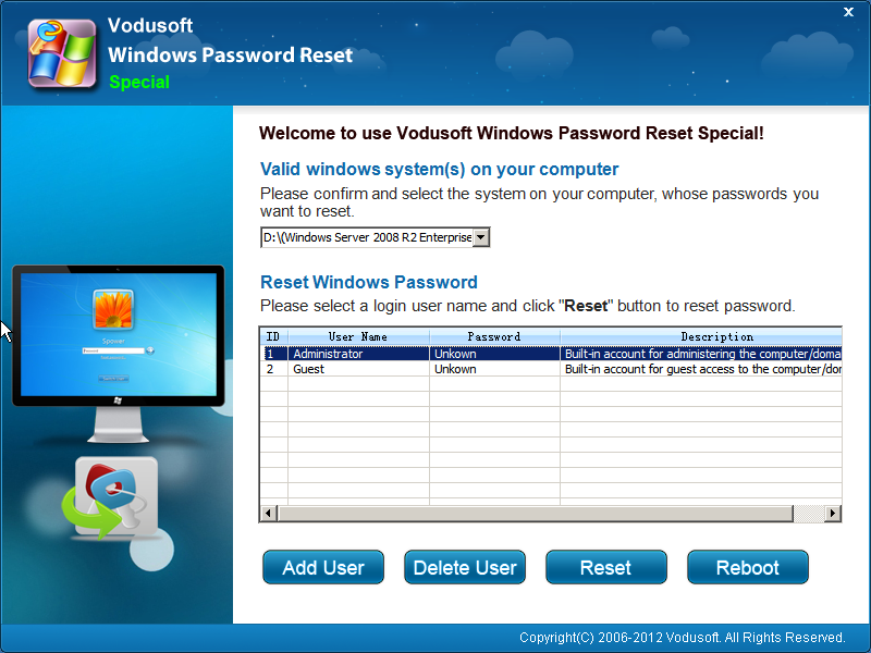 Vodusoft Windows Password Reset Special