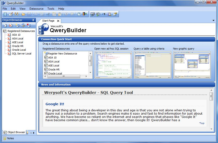 Werysoft's QweryBuilder - SQL Query Tool
