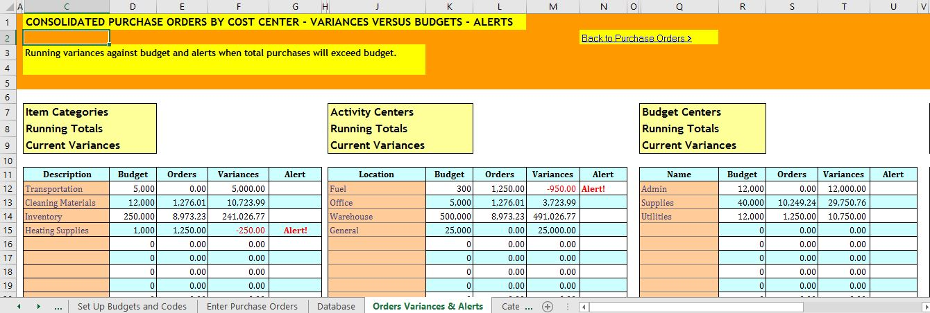 Excel Costing Workbooks