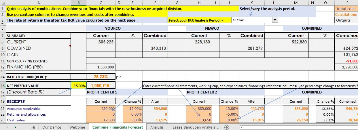 Excel Workbooks For Acquistion Analysis