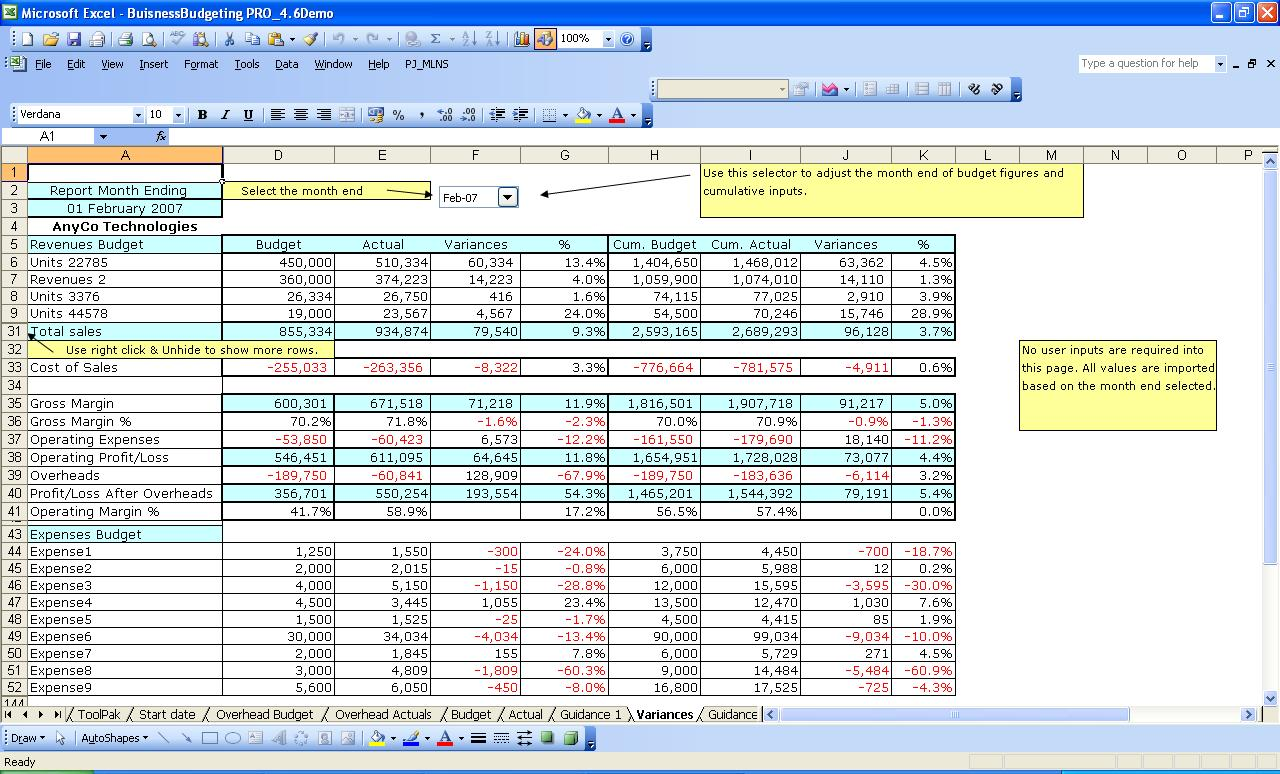 free excel financial spreadsheets