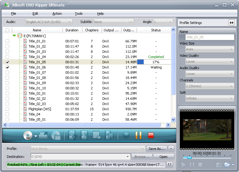 Xilisoft DVD Ripper Ultimate 6