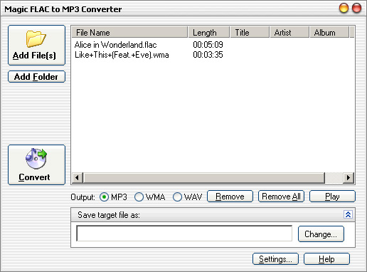 Magic FLAC to MP3 Converter
