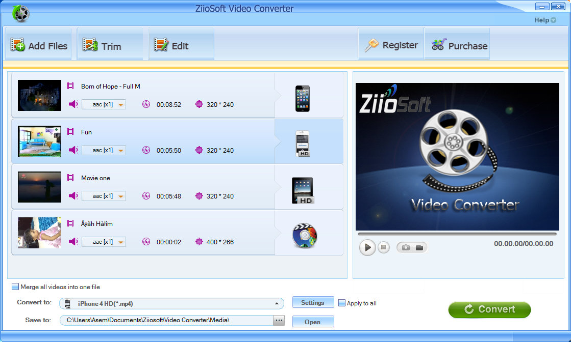 ZiioSoft Video Converter